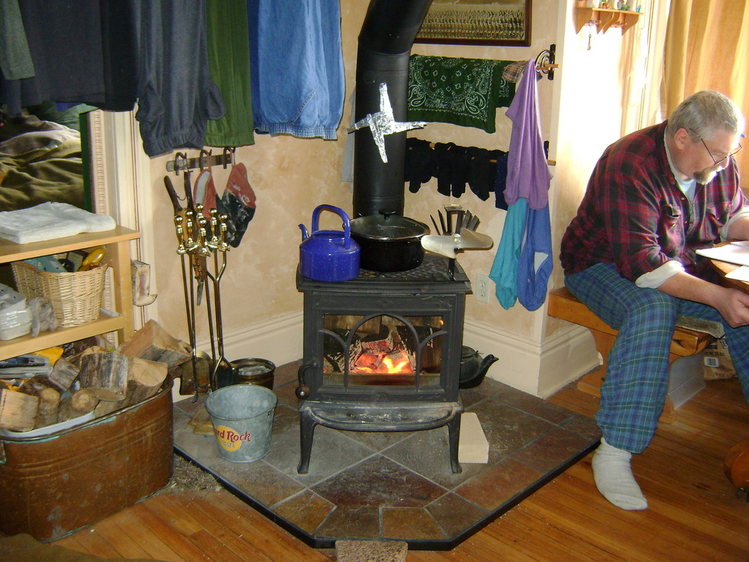 Wood Burner Stove Kitchen